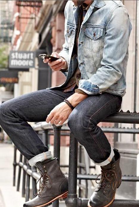 Le blouson en jean 90 s fait son come back mode masculine - Jean mode homme ...