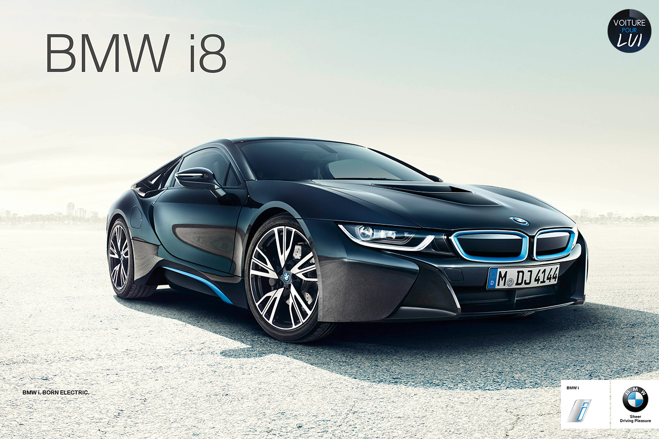 bmw lance sa campagne de pub pour la i8. Black Bedroom Furniture Sets. Home Design Ideas