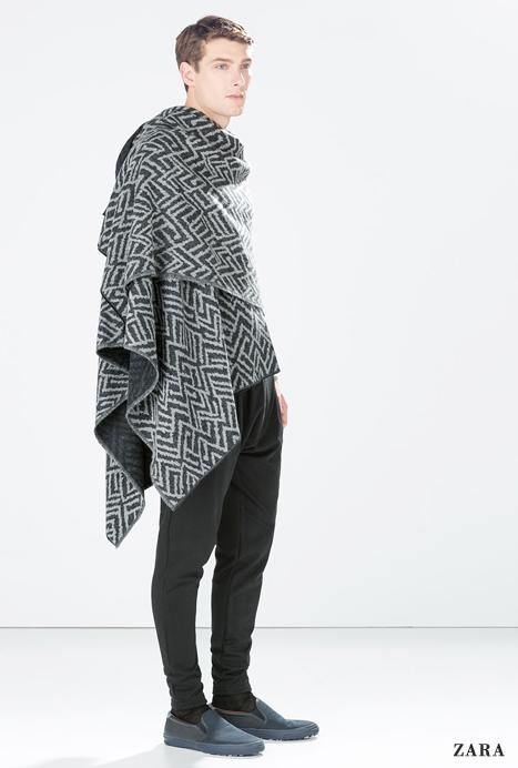 poncho pour homme l 39 atout ethno chic de l 39 hiver mode masculine