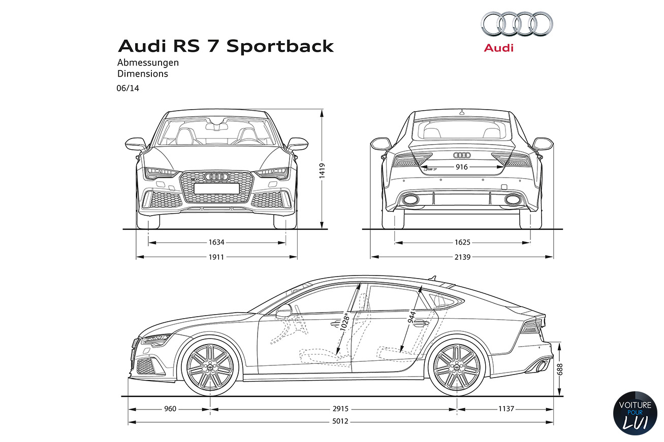 Audi rs7 engine capacity