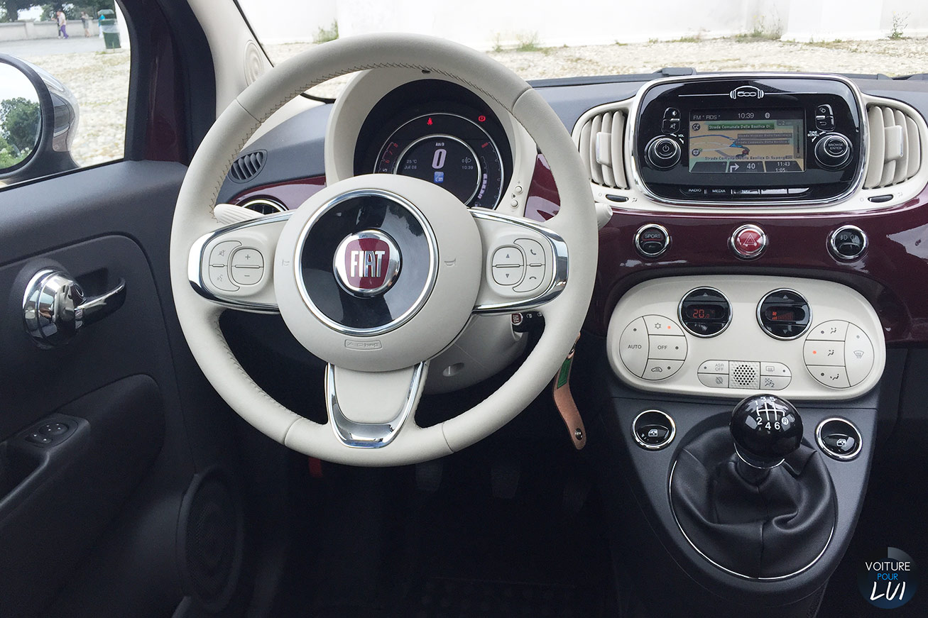 Clich fiat 500 2015 fiat 500 2015 001 for Fiat 500 interieur