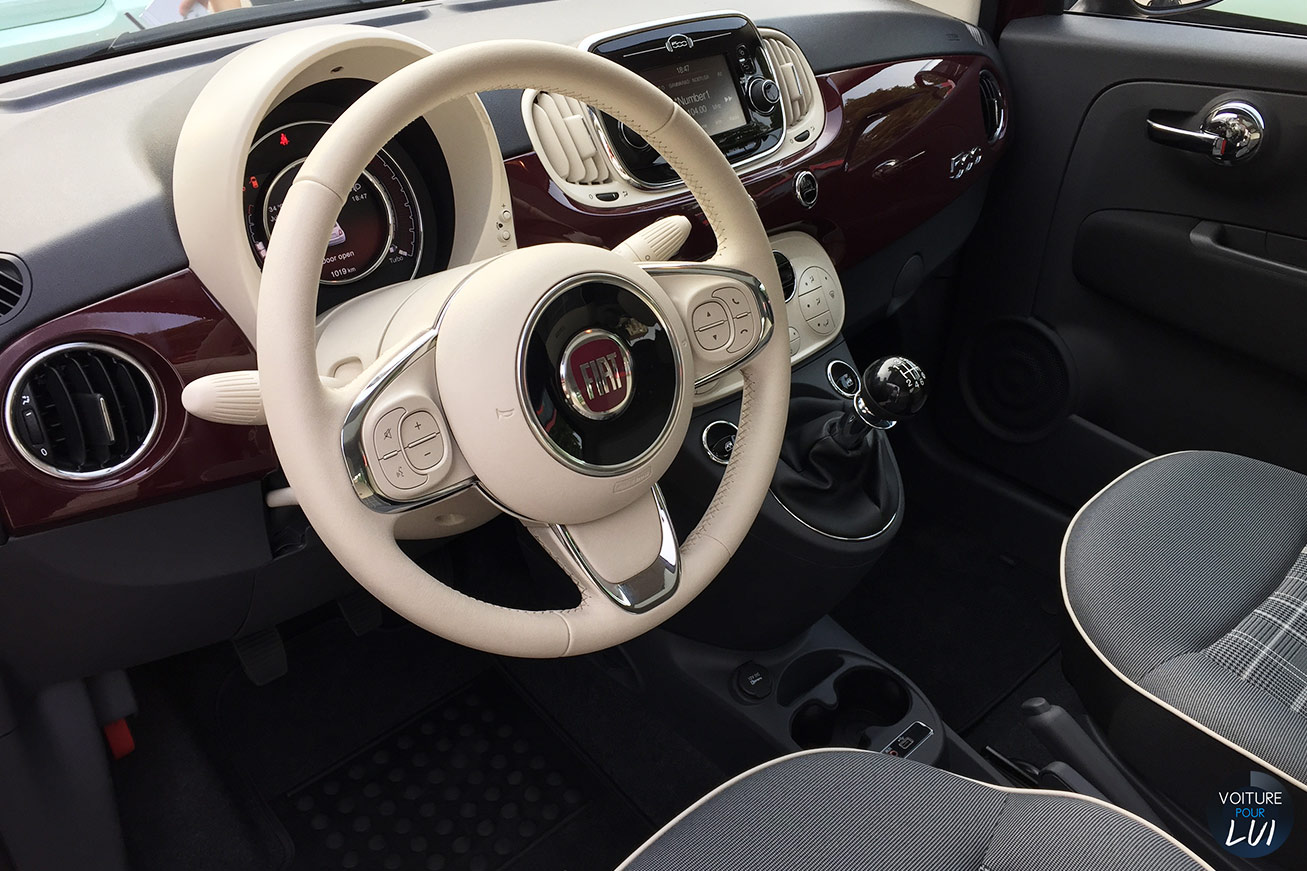 Fiat 500 2015 calandre for Fiat 500 interieur