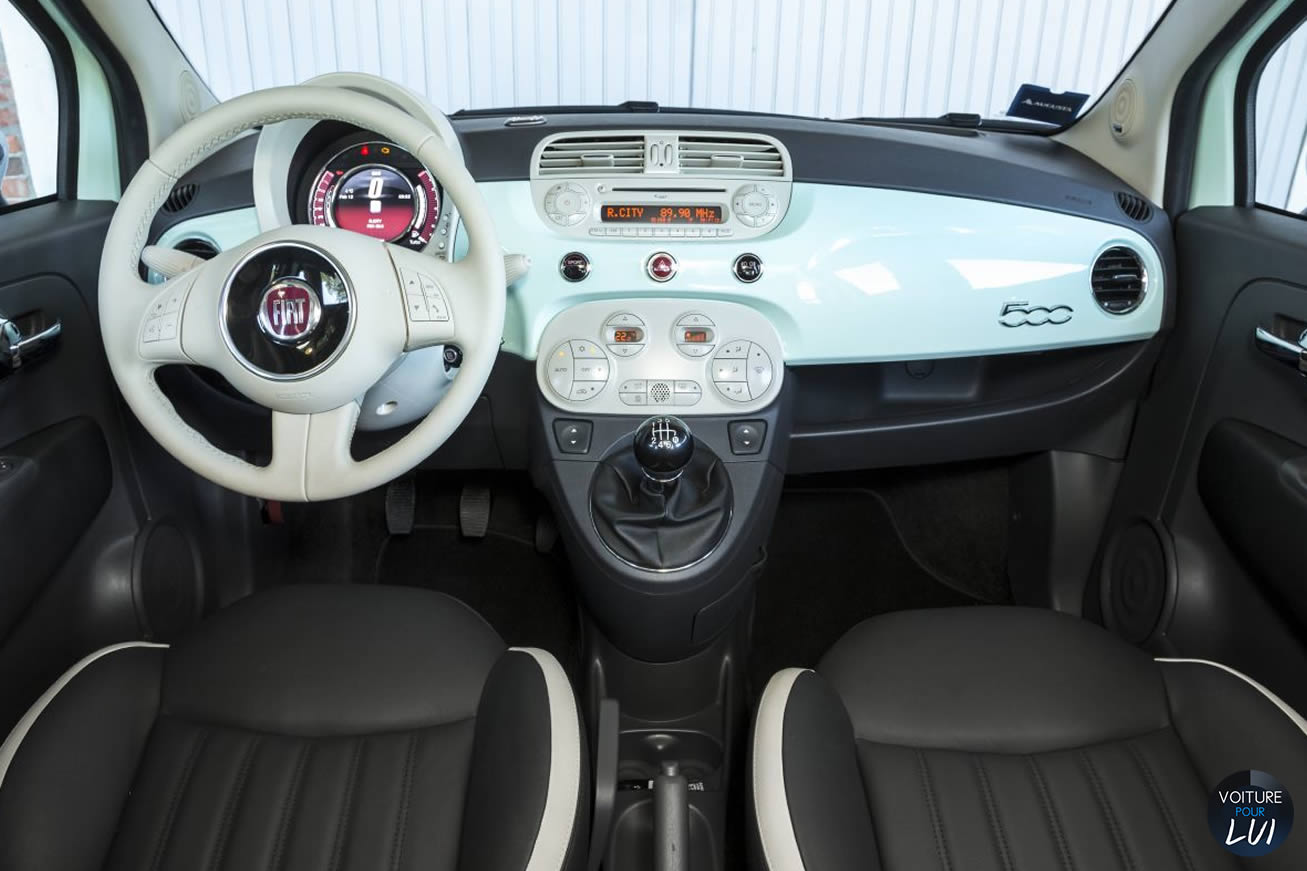 Photos fiat 500 cult 2014 numero 14 for Fiat 500 interieur