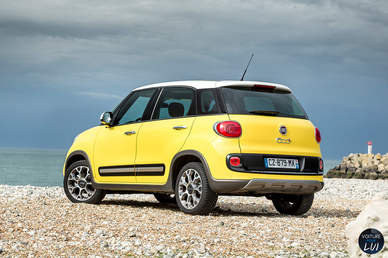 fiat 500l trekking jaune. Black Bedroom Furniture Sets. Home Design Ideas