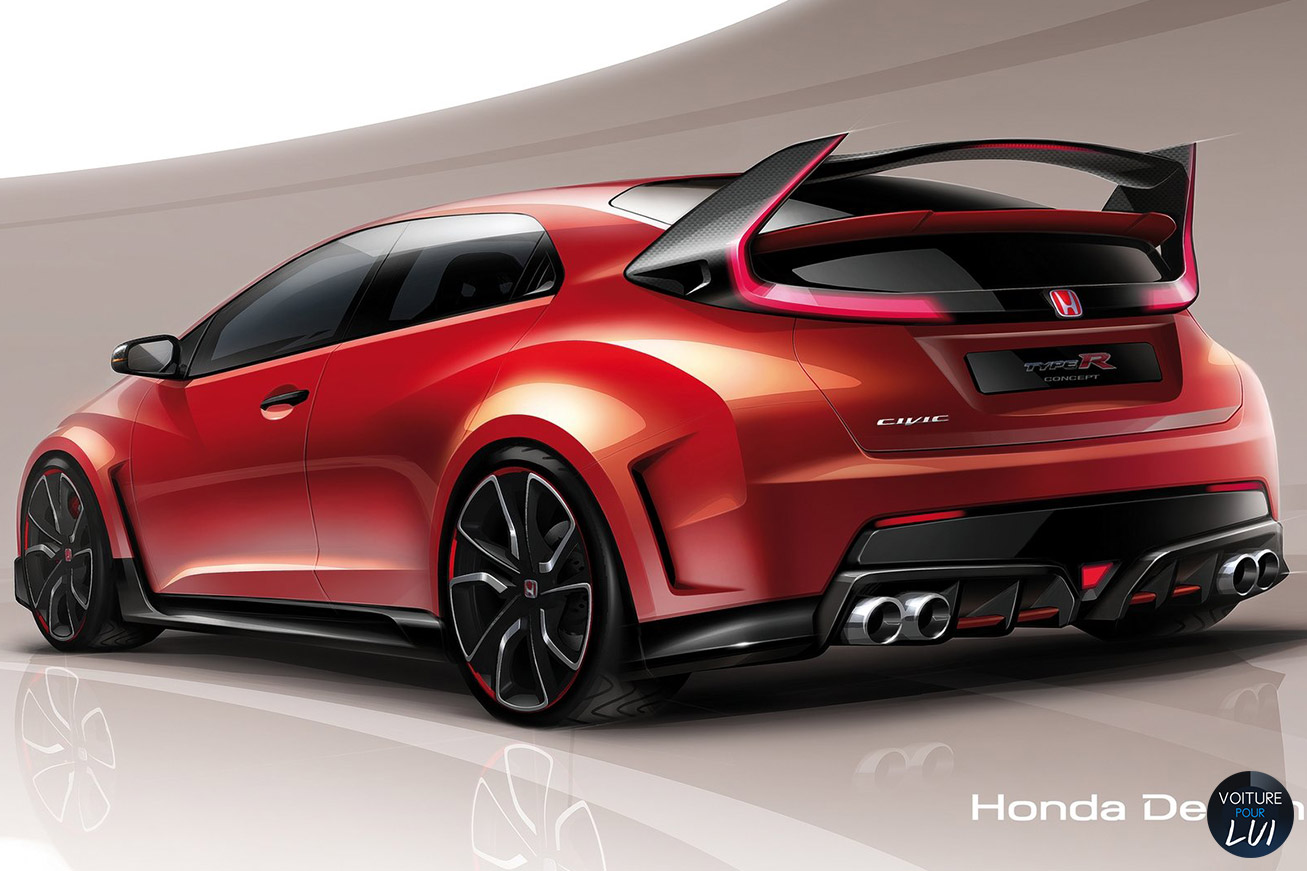 honda civic type r concept calandre. Black Bedroom Furniture Sets. Home Design Ideas