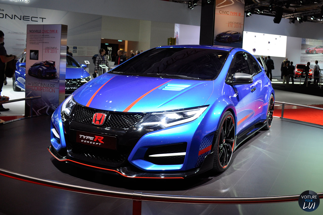 photo honda civic type r mondial auto 2014 2014. Black Bedroom Furniture Sets. Home Design Ideas