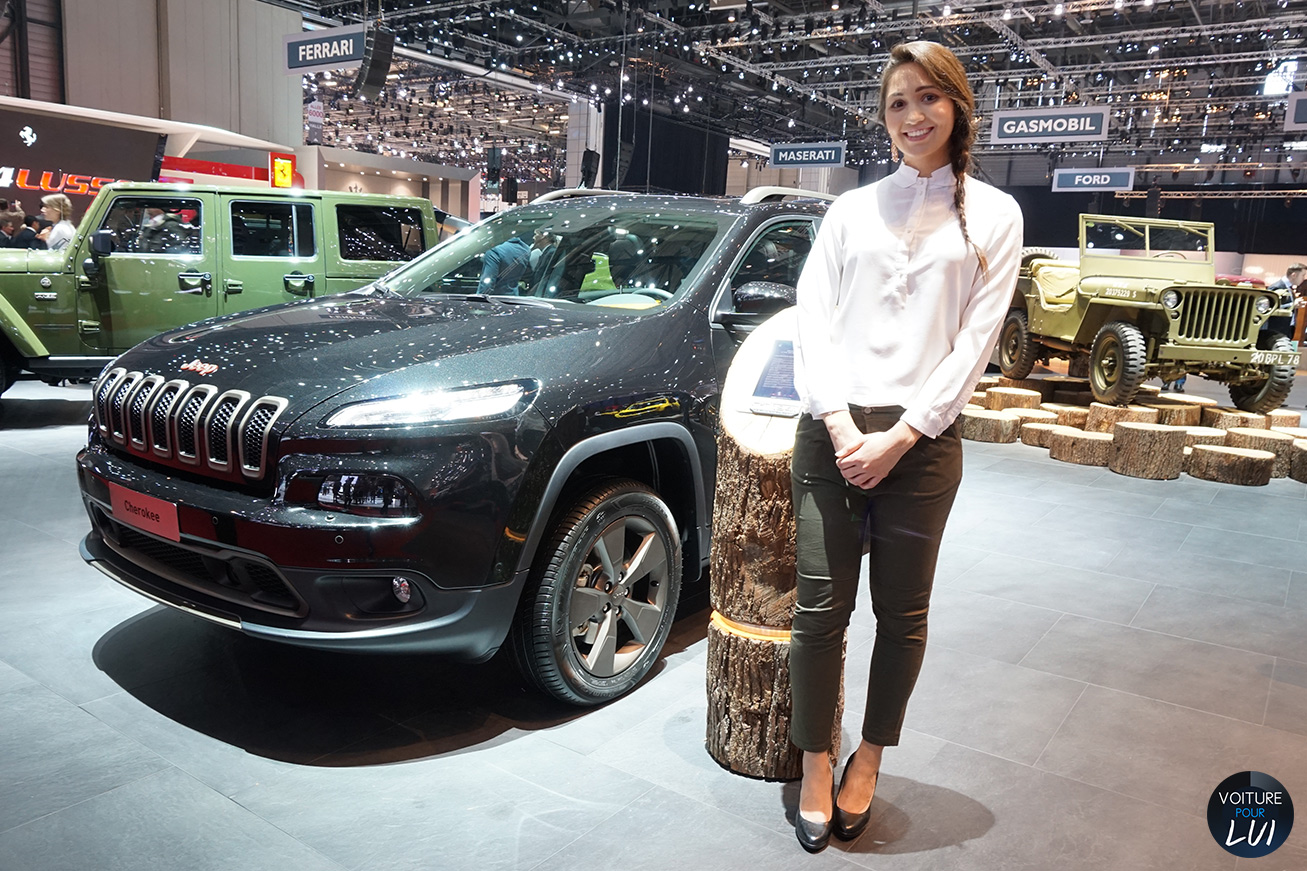 hotesse fille salon auto geneve 2016 jeep