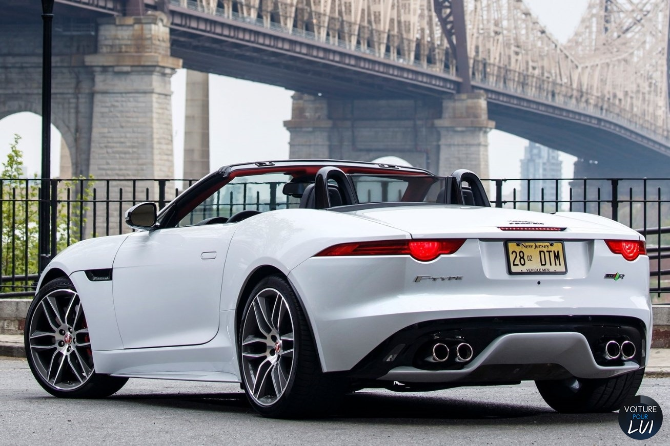 jaguar f type 2016 blanc phares feux cote arriere decapotable cabriolet. Black Bedroom Furniture Sets. Home Design Ideas