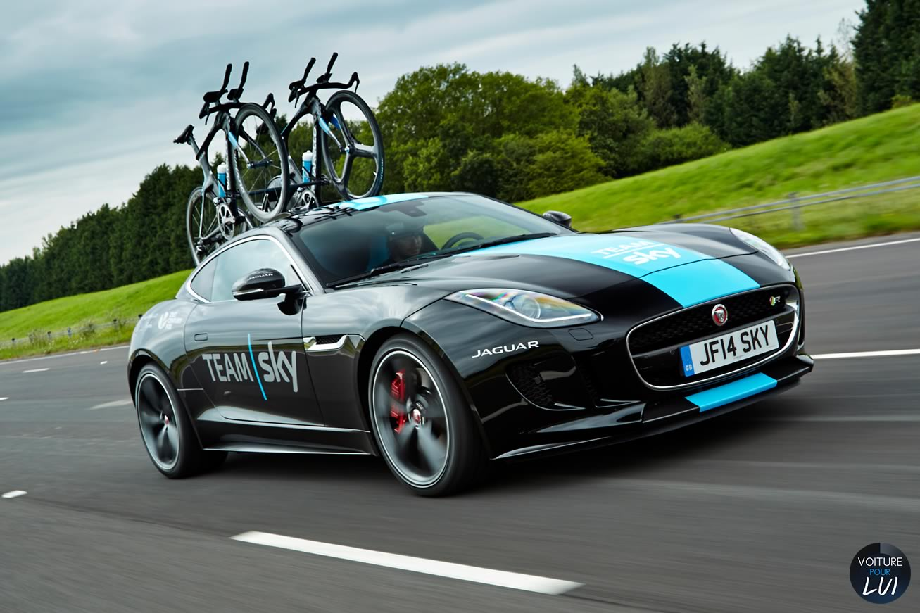 jaguar f type team sky 2014 voiture pour lui. Black Bedroom Furniture Sets. Home Design Ideas