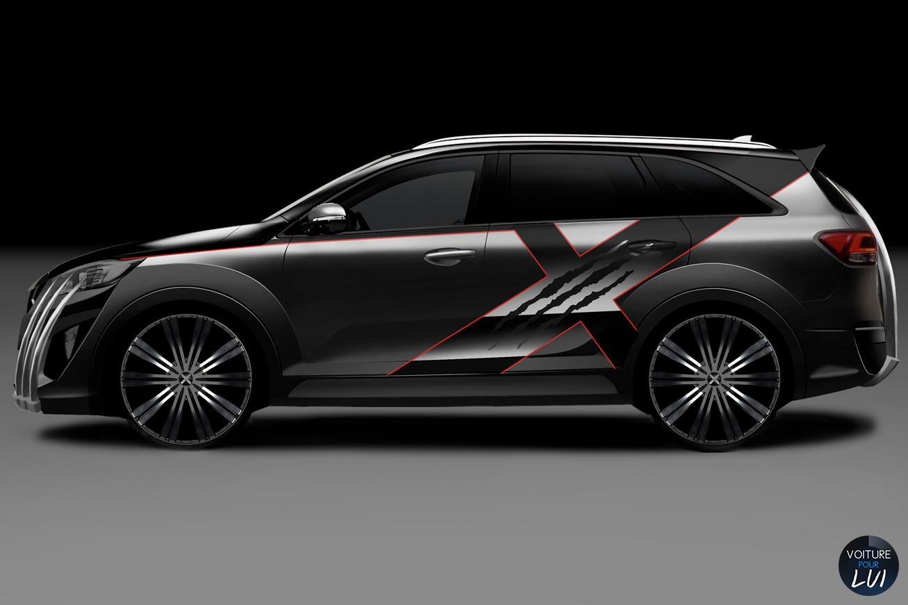 Kia  X CAR    http://www.voiturepourlui.com/images/Kia//Exterieur/Kia_X_Car_003.jpg