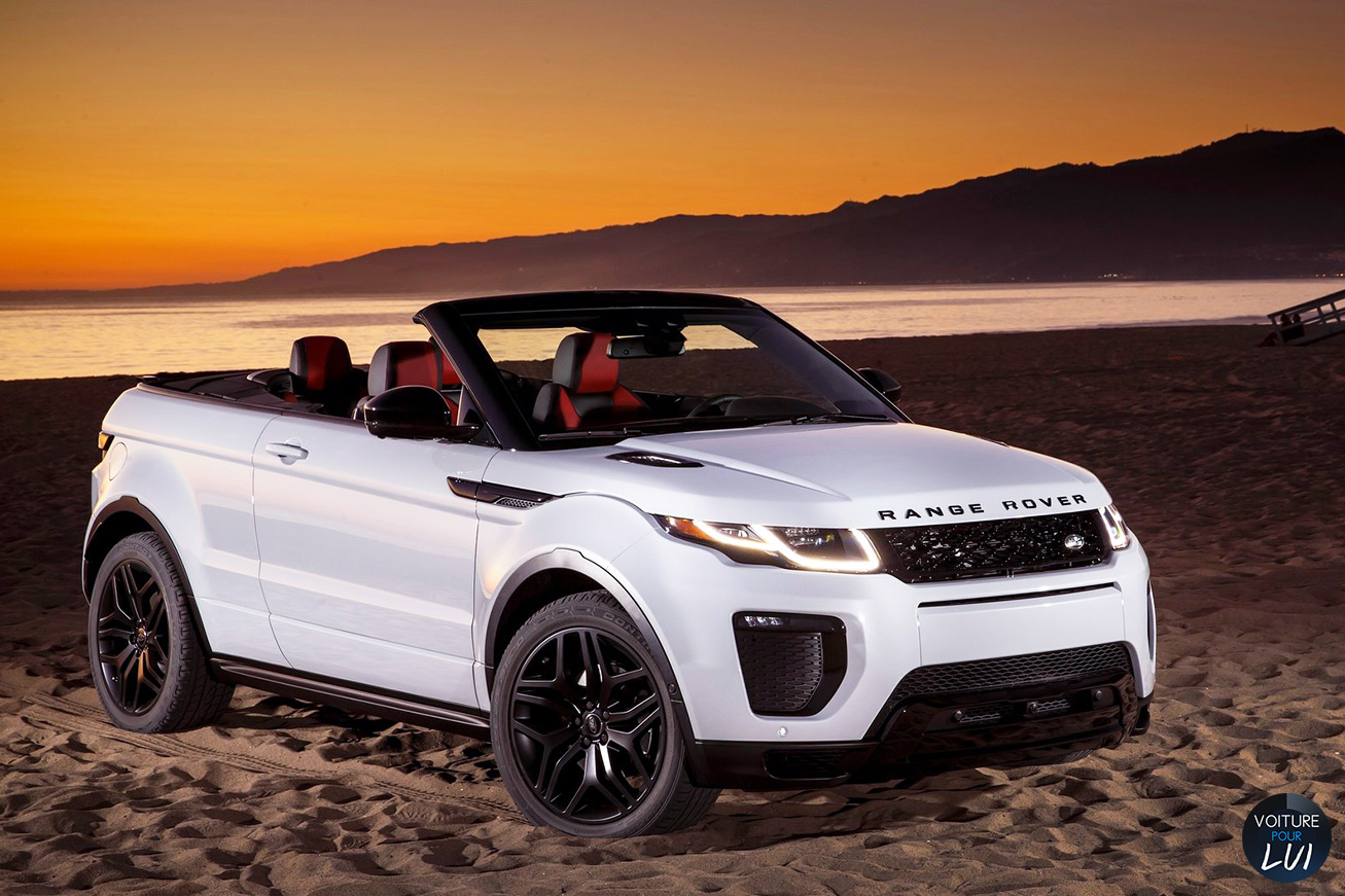 nouveau range rover evoque cabriolet pr sent paris. Black Bedroom Furniture Sets. Home Design Ideas