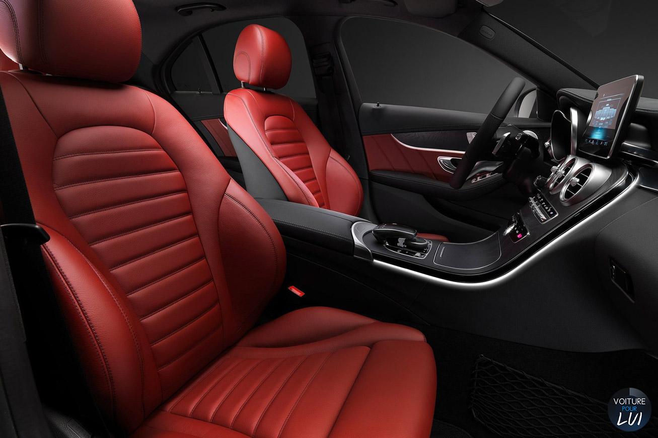 Image mercedes classe c 2015 noir for Mercedes classe c interieur