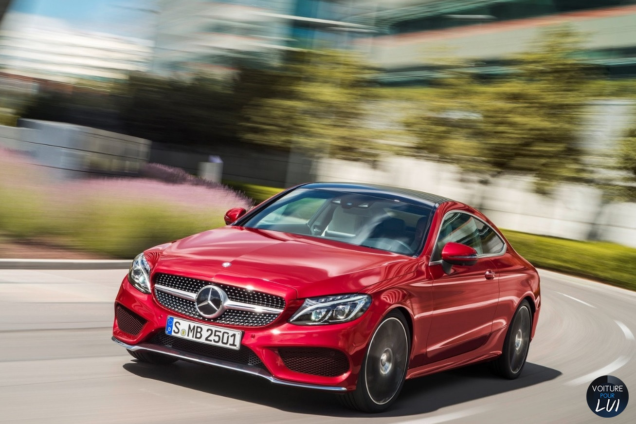 mercedes classe c coupe 2017 rouge avant. Black Bedroom Furniture Sets. Home Design Ideas