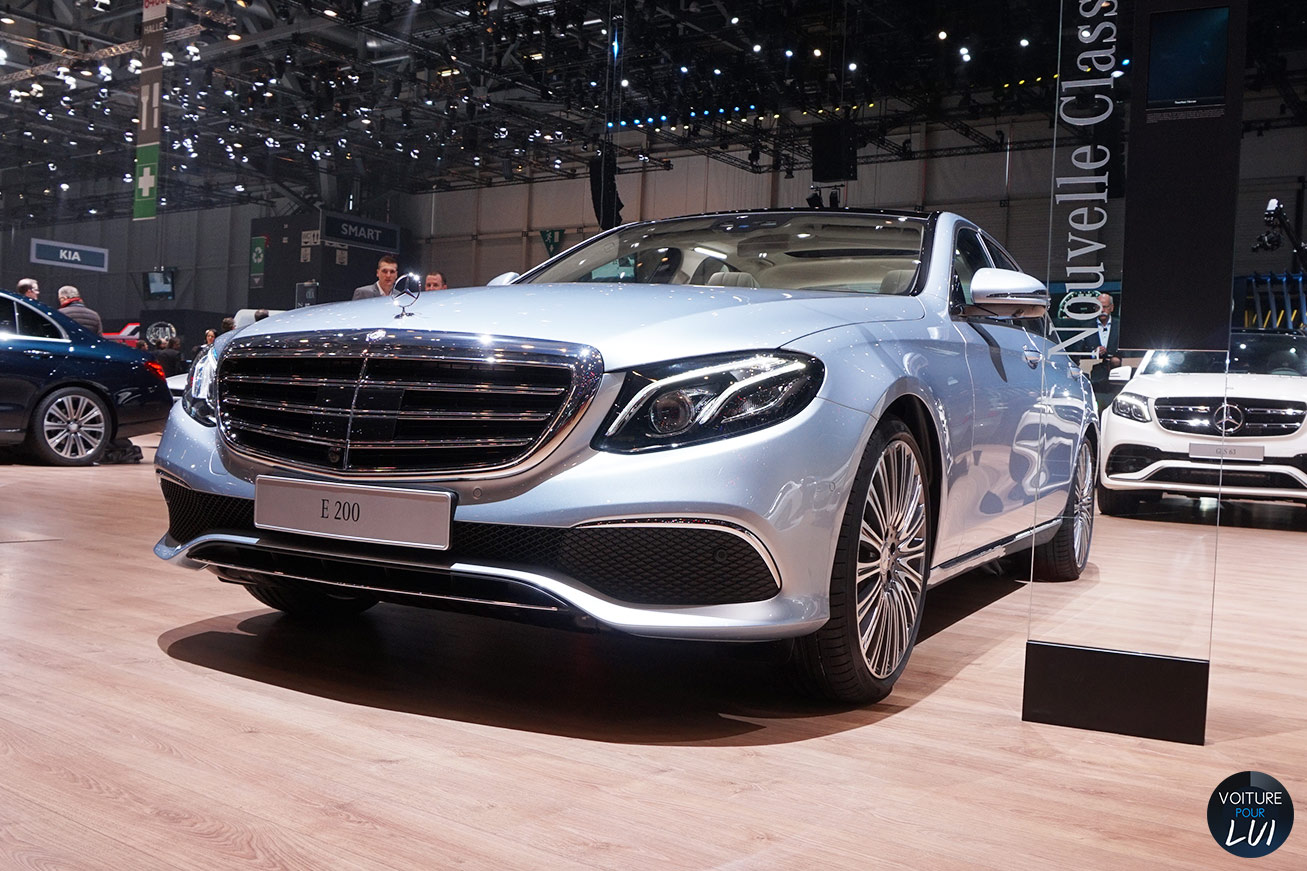 Mercedes classe e salon geneve 2016 avant for Classe e interieur 2016