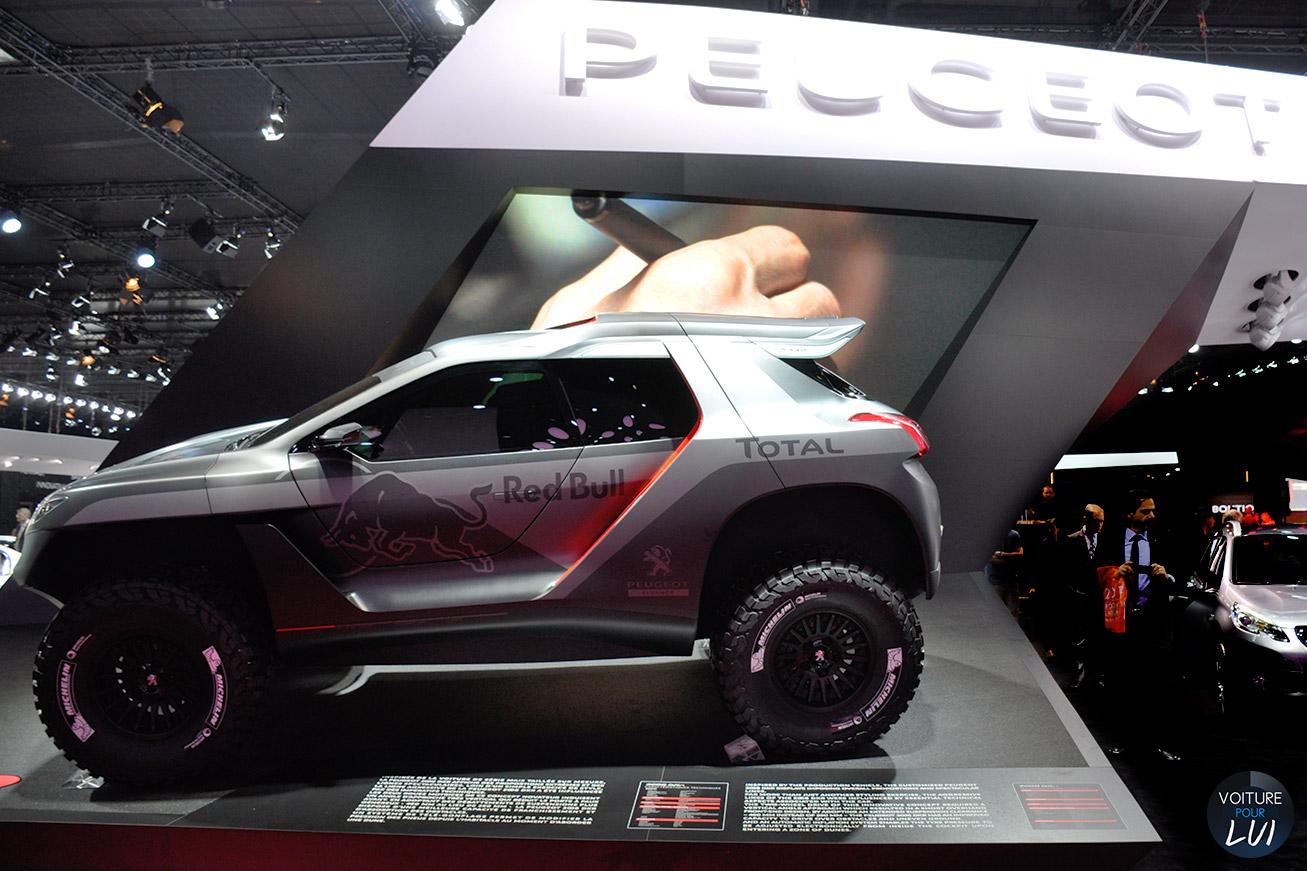 peugeot 2008 dkr mondial auto 2014 2015 voiture pour lui. Black Bedroom Furniture Sets. Home Design Ideas