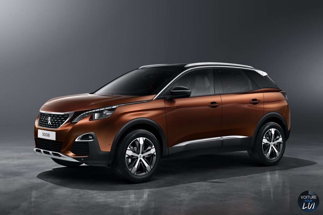 Photo peugeot 3008 2016 avant face orange marron cote for 3008 exterieur