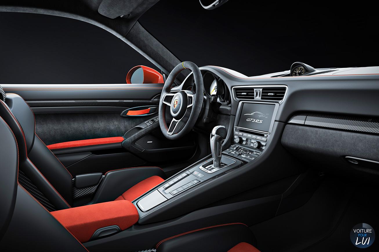 Porsche 911 gt3 rs 2015 voiture pour lui for Interieur 911