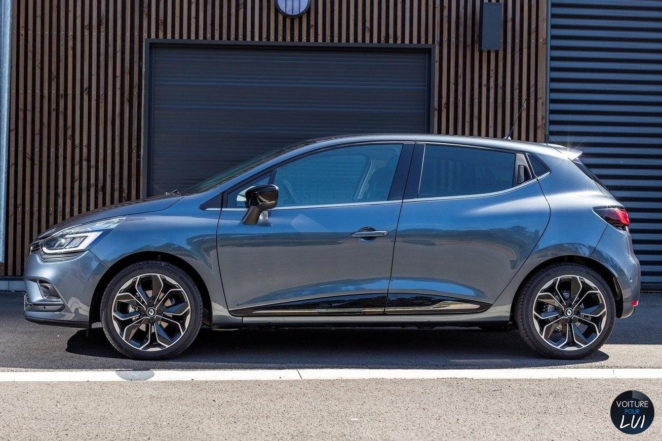 Image Renault Clio 2017 Gris Profil