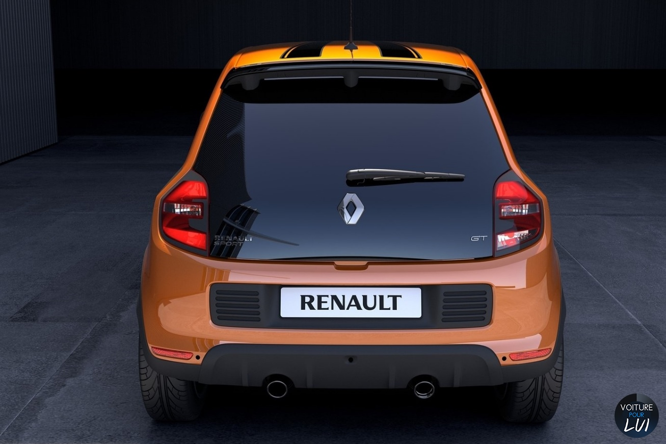 photo renault twingo gt 2017 orange noir arriere. Black Bedroom Furniture Sets. Home Design Ideas