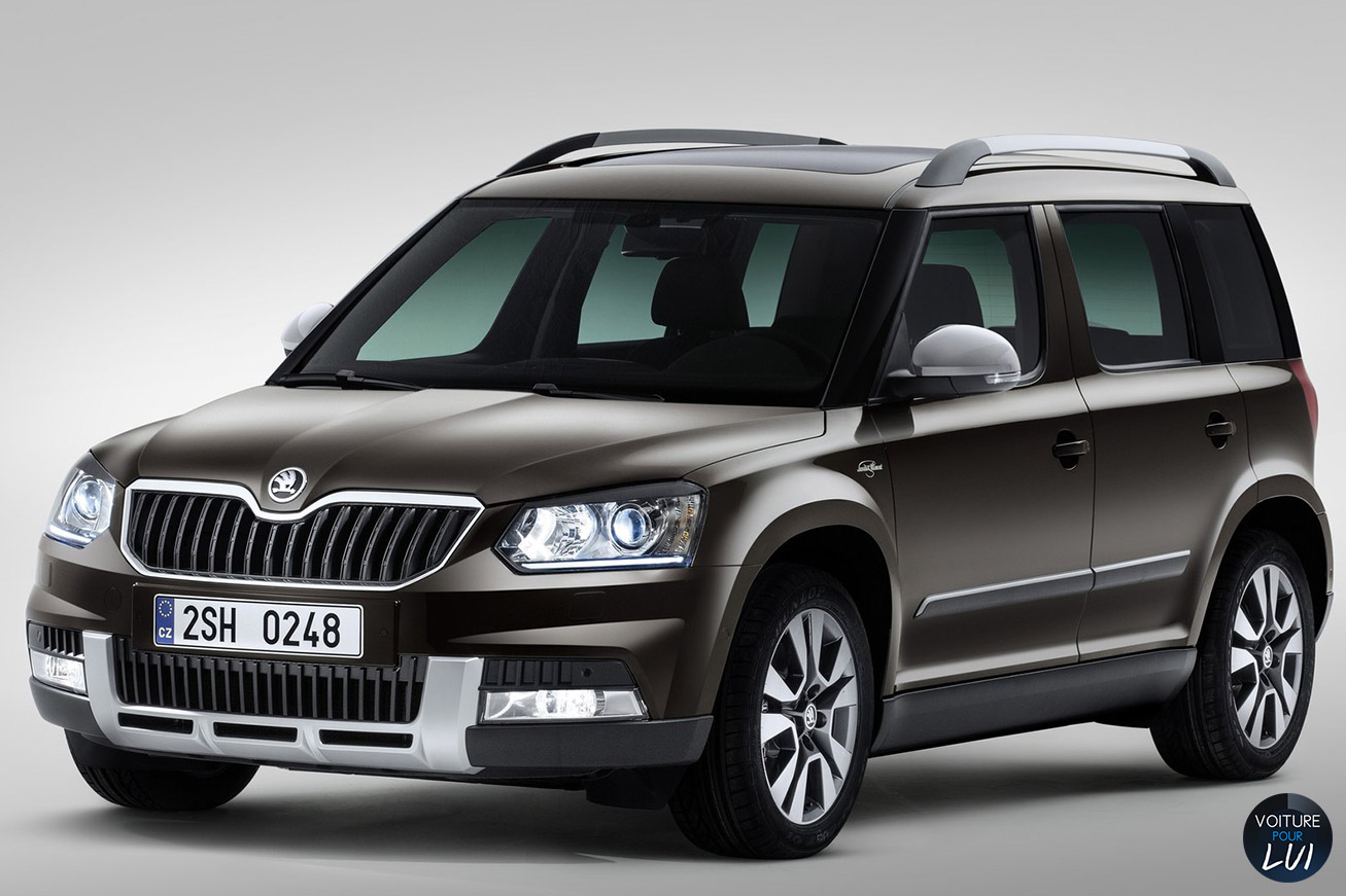 photo skoda yeti 2014 noir. Black Bedroom Furniture Sets. Home Design Ideas