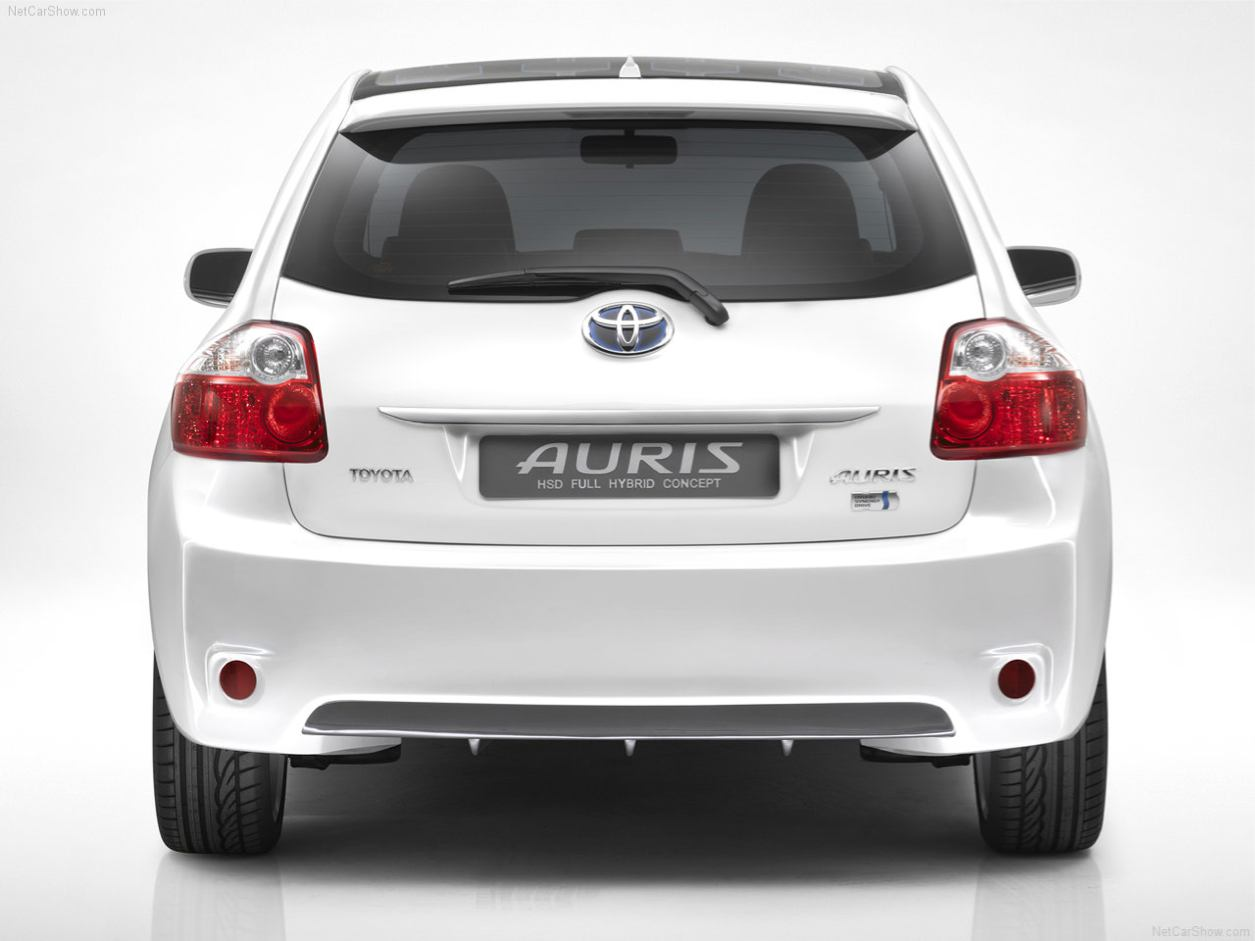 auris hsd full hybrid concept concept car. Black Bedroom Furniture Sets. Home Design Ideas