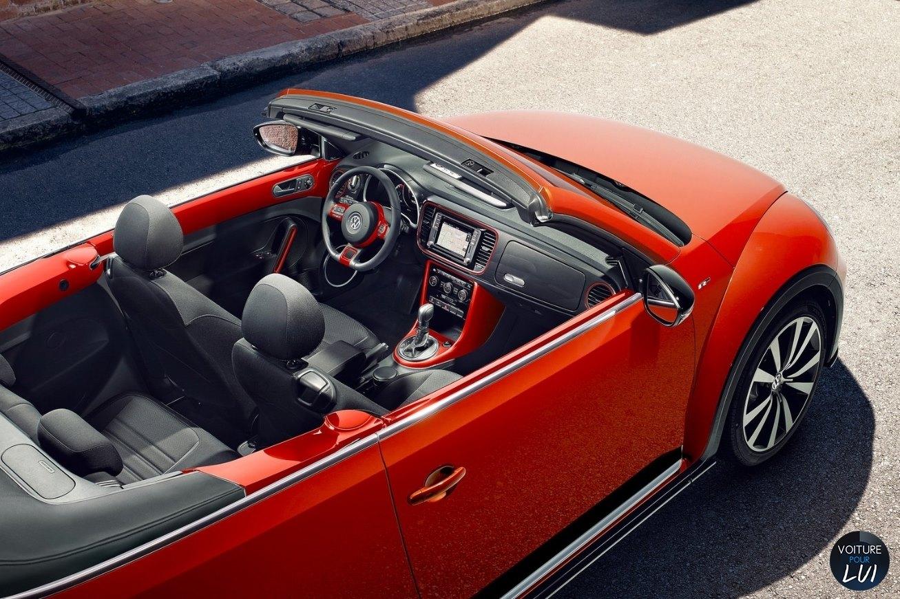 Top Photo Volkswagen Beetle 2017 Rouge Arriere Decapotable Hauteur  MO74