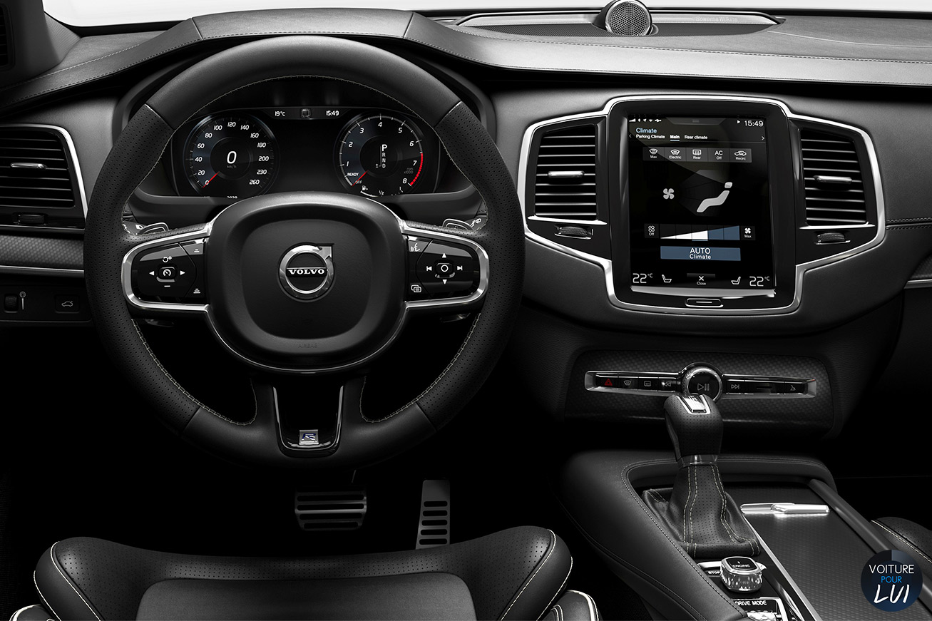 Photos volvo xc90 r design 2015 numero 17 for Interieur xc90
