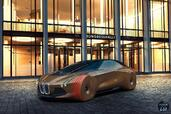 Bmw Vision Next 100 Concept 2016  photo 8 http://www.voiturepourlui.com/images/Bmw/Vision-Next-100-Concept-2016/Exterieur/Bmw_Vision_Next_100_Concept_2016_008_marron_orange_avant_motifs_rouge_feux.jpg