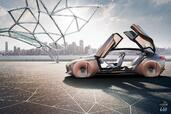 Bmw Vision Next 100 Concept 2016  photo 27 http://www.voiturepourlui.com/images/Bmw/Vision-Next-100-Concept-2016/Exterieur/Bmw_Vision_Next_100_Concept_2016_029_marron_orange_cote_profil_portes.jpg